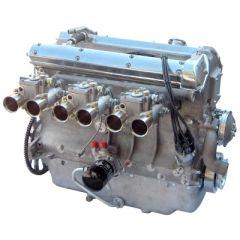 Jaguar LWE engine wide angle carburettors alloy block wet sump