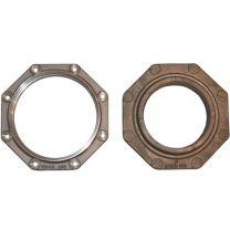 Housing for rear crank seal piston ring type