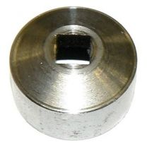 Square hole shaft plug for oil pump drive